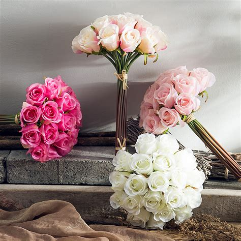 blossom artificial flower living room dining table ina roses simulation flower silk flower arrangement floral living room dining table bedroom