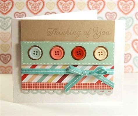Handmade Cards With Buttons - button greeting cards ideas for handmade card