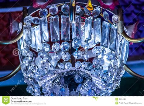 Blue Crystal Chandeliers Colored Glass Crystal Chandelier Stock Photo Image 35514624