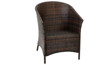 Tub Chair Asda by Jakarta 2 Classic Patio Tub Chairs Garden Furniture