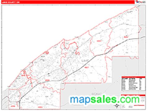 Lake County Regional Office Of Education by Lake County Oh Zip Code Wall Map Line Style By Marketmaps