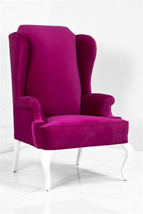 www roomservicestore brixton wing chair in pink velvet