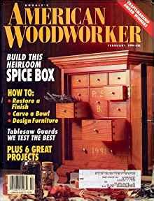 american woodworker back issues american woodworker february 1994 issue 36 american