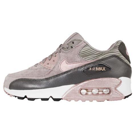 nike air max 90 womens running shoes wmns nike air max 90 lthr leather iron bronze womens