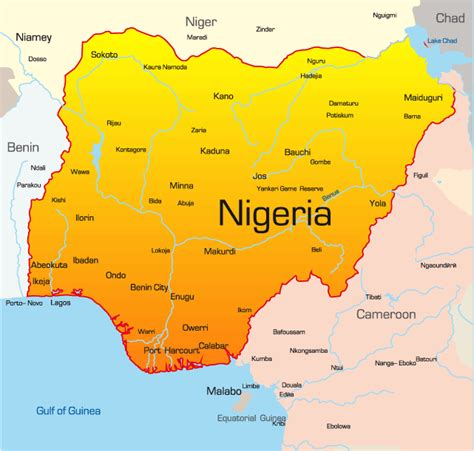 africa map nigeria africa map showing nigeria images