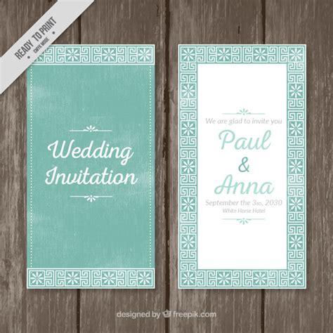 Kostenlose Vorlage Einladung Hochzeit Einladung Zur Hochzeit Mit Zierblumen Der Kostenlosen Vektor