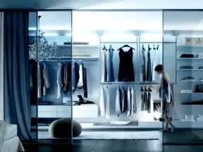 The Blue Closet by 20 Beautiful Glass Walk In Closet Designs