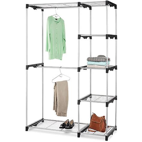 Walmart Closet Rack by Whitmor Rod Freestanding Closet Silver Black