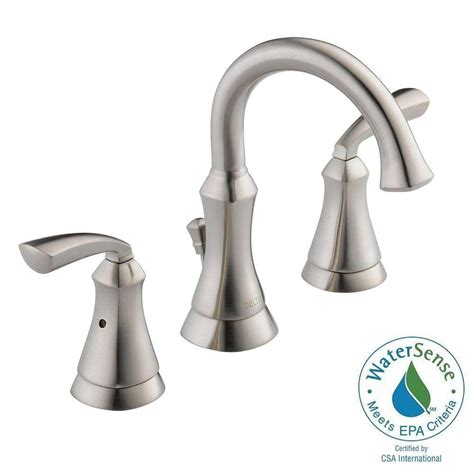 delta bathroom faucet installation delta mandara 8 in widespread 2 handle bathroom faucet in