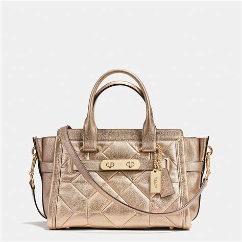 Coach Swagger Patchwork Size 27 coach swagger 27 carryall in metallic from coach