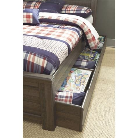 ashley trundle bed ashley furniture juararo trundle in dark brown b251 60