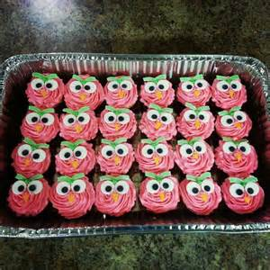 Owl Themed Birthday Decorations Pink Owl Cupcakes My Cakes Quot Sweetweets Quot Pinterest