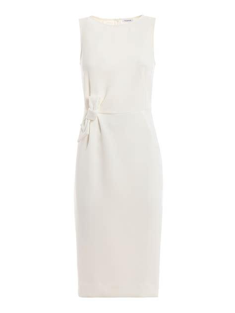 P A R O S H Knee Length Dress p a r o s h poloxy white crepe cady sheath dress knee