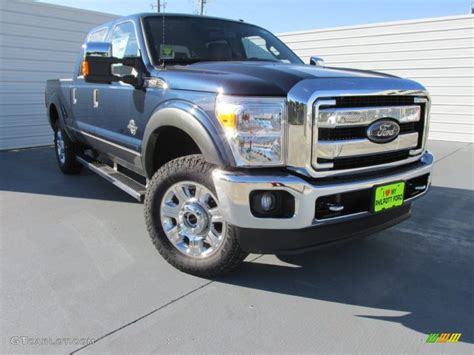 Ford Vehicles 2015 by 2015 Blue Ford F250 Duty Lariat Crew Cab 4x4