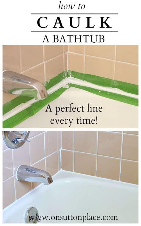 how to caulk a bathtub bathtubs
