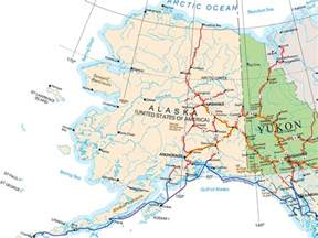 map of northern canada and alaska alaska map