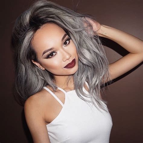 gray hair fad gray ombre hair trend turns locks in silver ombre delight