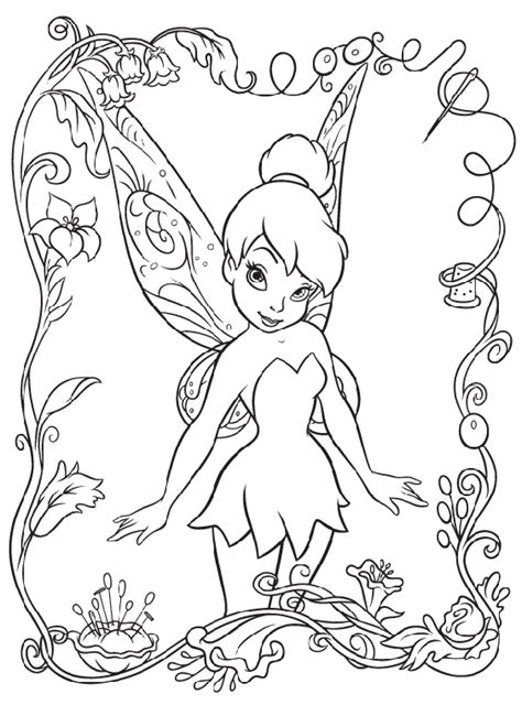 coloring pages tinkerbell free disney fairies tinkerbell coloring page crayola com