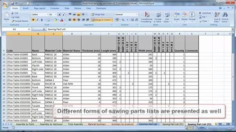 Bom Template Excel by Bill Of Materials Template Invoice Design Inspiration