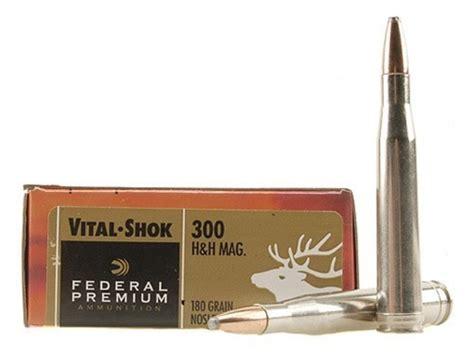 h h federal premium vital shok ammo 300 h h mag 180 grain