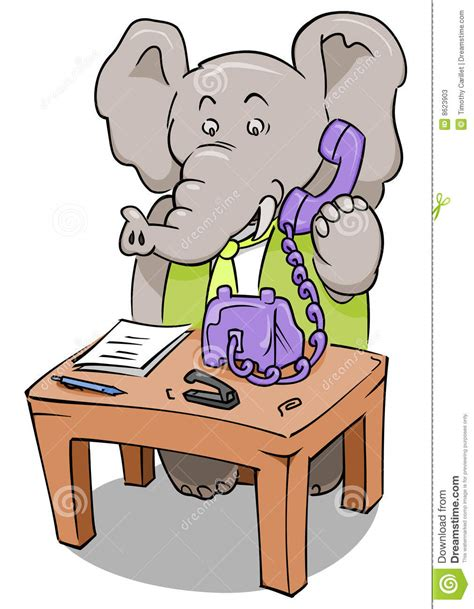 Clerks Phone clerk phone elephant stock photos image 8623903