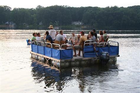 small pontoon boats michigan diamond lake michigan dock barge rollingbarge