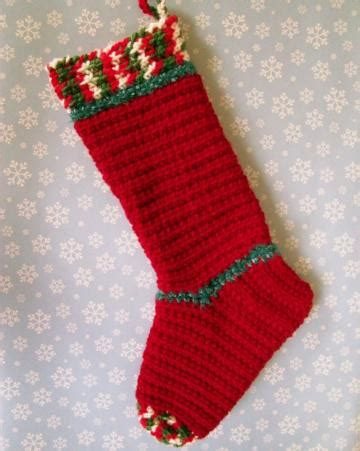 crochet pattern for large christmas stocking large crocheted christmas stocking pattern crochet