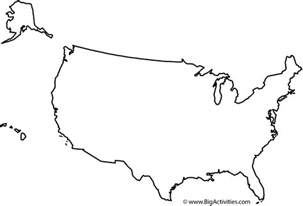 united states coloring page map of the united states with title coloring page