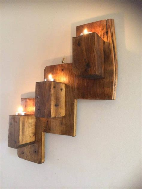 pallet wall mounted candle holders 101 pallet ideas