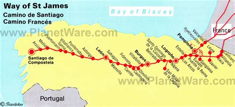 camino de santiago map the way of st map