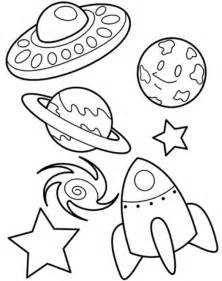 Here home spaceship ufo planet galaxy and spaceship coloring page
