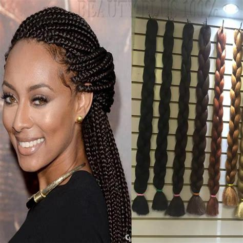 synthetic or human hair box braids aliexpress com buy good quality 100 synthetic xpression