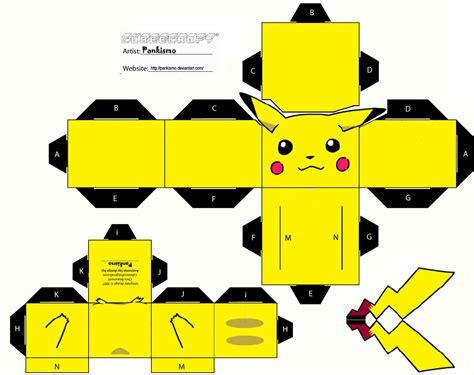 Pikachu Origami Cube - pikachu cubeecraft cubeecraft