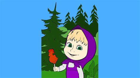 imagenes animadas youtube masha y el oso de dibujos animados para colorear para los