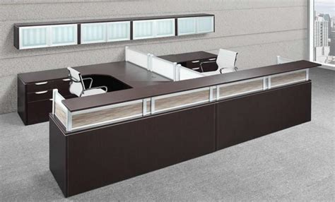 reception desk office new deluxe receptionist desks w fabric and acrylic panels