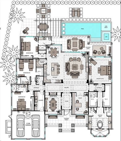 single storey floor plan single story 3 bed with master and en suite open floor plan house plans pinterest open