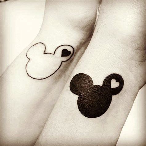 mickey mouse ears tattoo 19 adorable disney character mickey and minnie mouse