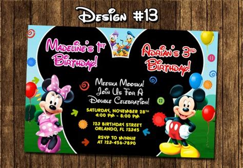 printable birthday invitations walgreens mickey mouse clubhouse birthday party photo invitations