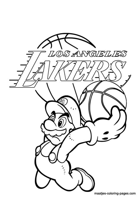 lakers coloring page az coloring pages