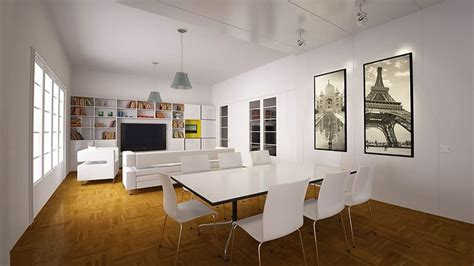 living room with dining table white living room with dining table 3d cgtrader