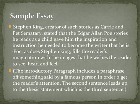 Stephen King Essay by Essay On Stephen King On Writing