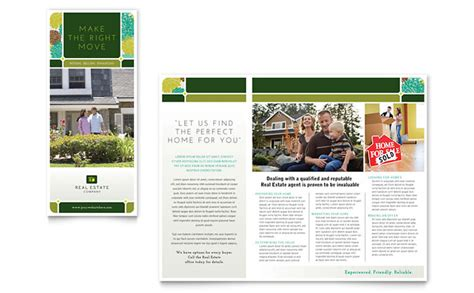 property brochure template free real estate brochure template design