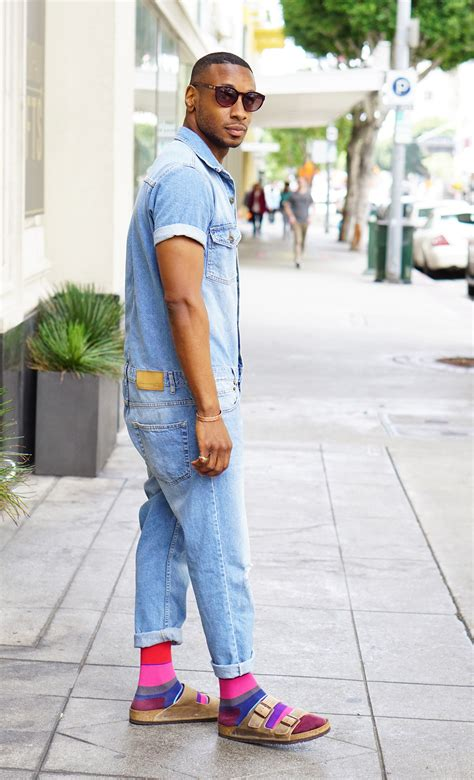 ootd denim jumper birkenstocks norris danta ford
