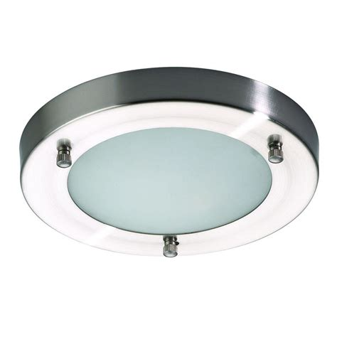 Stainless Steel Bathroom Light Fixtures Mari Flush Bathroom Light Satin Nickel From Litecraft