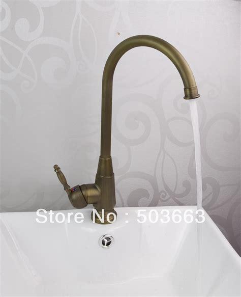 brass kitchen sink faucet wholesale 1 handle antique brass kitchen sink faucet