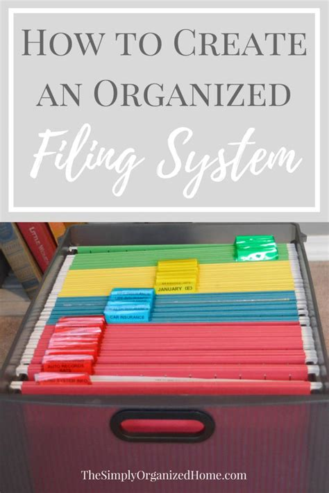 best way to files best 25 filing system ideas on file
