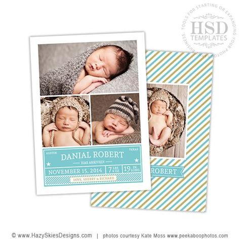 photoshop templates for birth announcements birth announcement templates modern baby