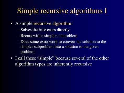 What Is The Base In The Recursive Algorithm For A Binary Search Of A Sorted Array Ppt Types Of Algorithms Powerpoint Presentation Id 150189