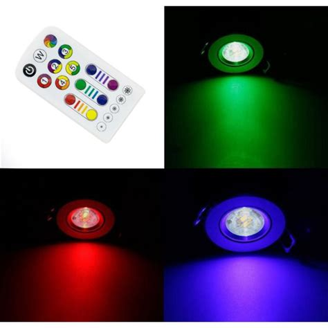 Spot Led Encastrable Plafond 220v by 9 Spots De Plafond Led Rgb 6 5w 230v Encastrable