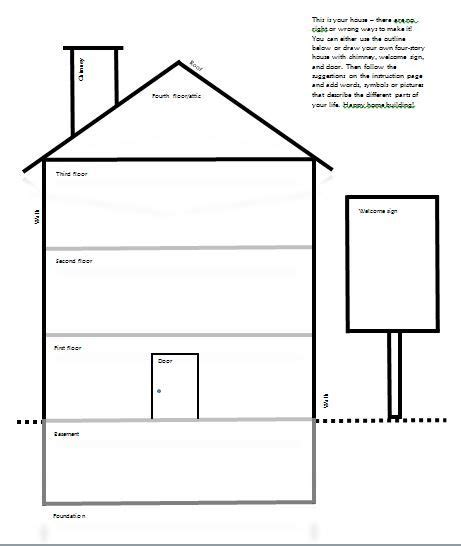 my house printable activities template for quot draw your house quot activity psychology